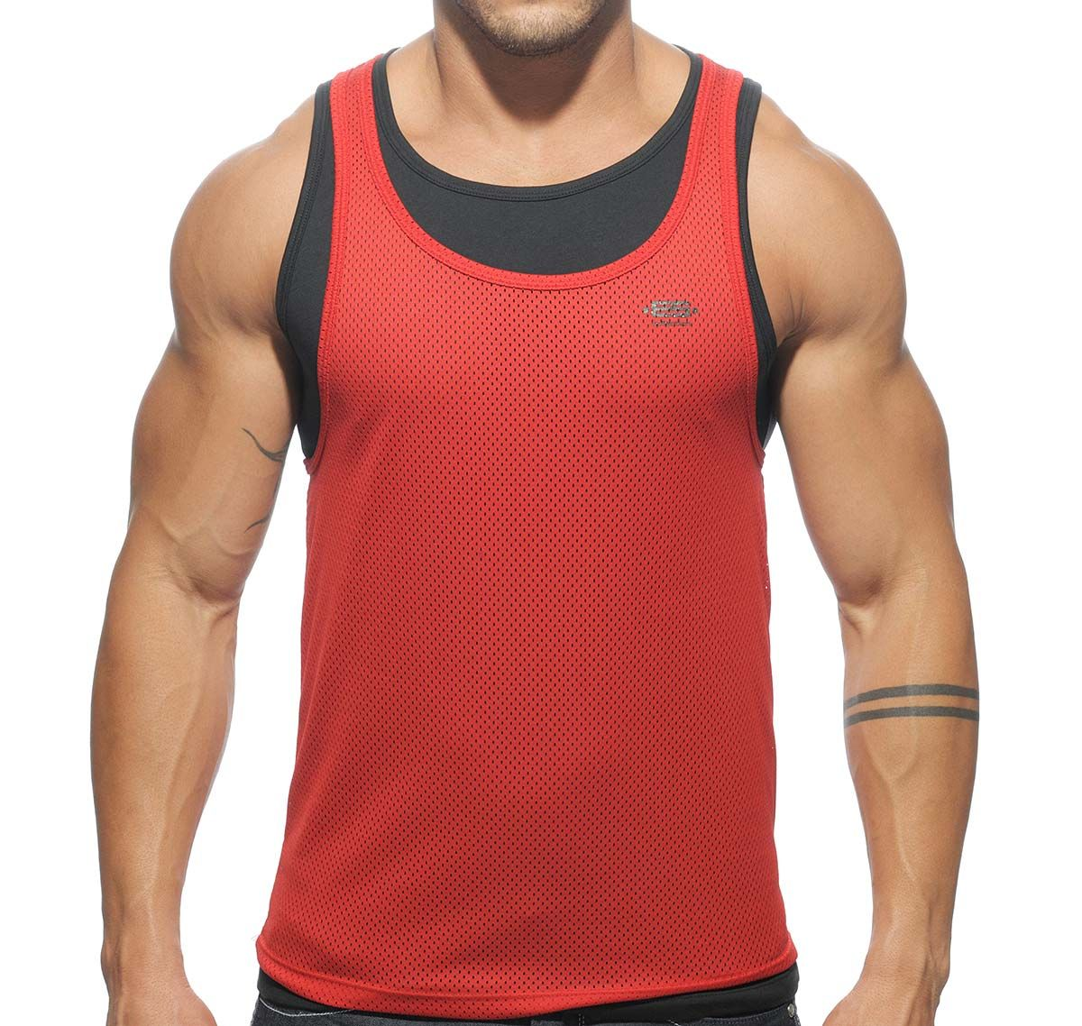ES Collection Canotta SUPER POSED LOW RIDER TS123, rosso