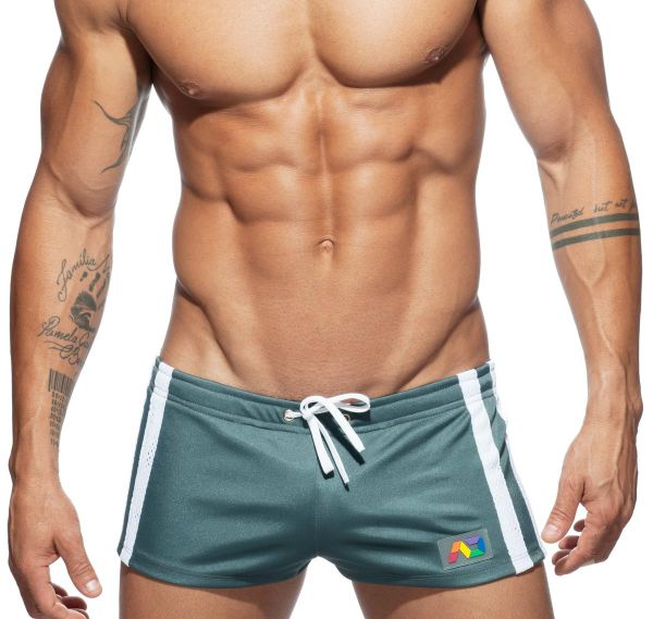 Addicted Sporthose GEOBACK SHORT AD620, Grau