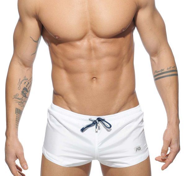 Addicted Badeshort BASIC MINI SWIM SHORT ADS111, weiss