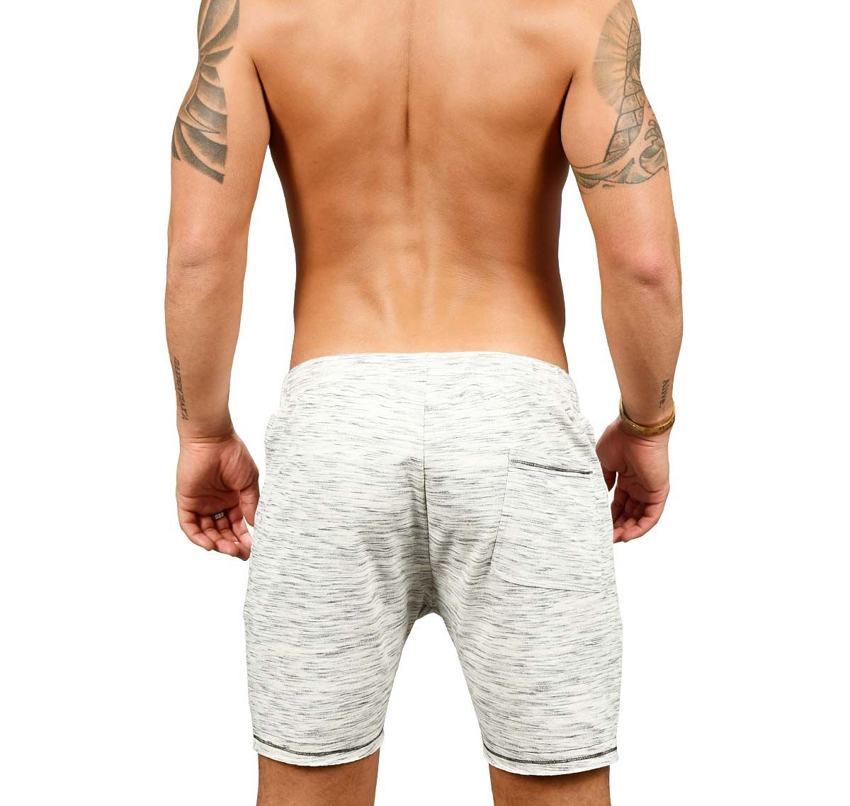 Andrew Christian Short deportivo VIBE SPORTS & WORKOUT SHORTS 6507, gris claro