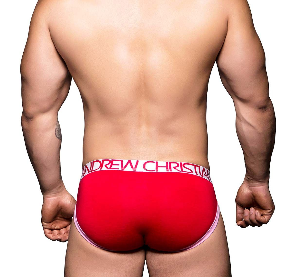 Andrew Christian Slip TAGLESS SWEETHEART BRIEF 90140, rosso