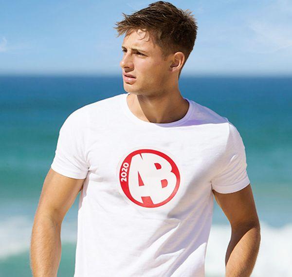 aussieBum T-Shirt DESIGNER TEE AB, weiß