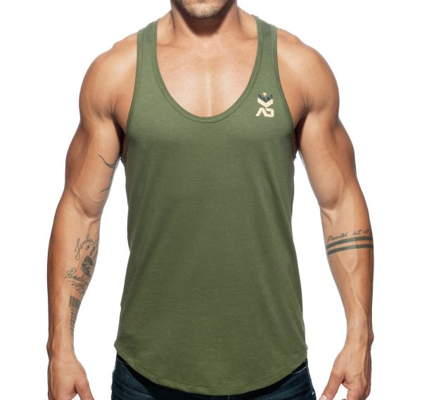 Addicted Sportshirt MILITARY TANK TOP AD611, grün