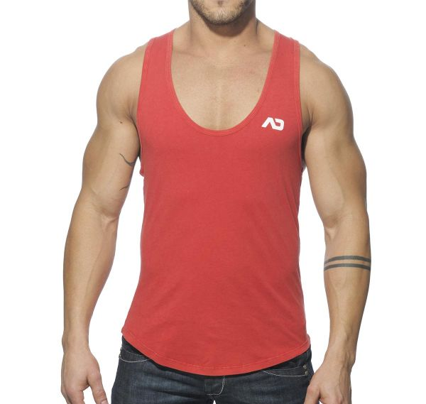 Addicted Tank Top VINTAGE LOW RIDER AD216, rot