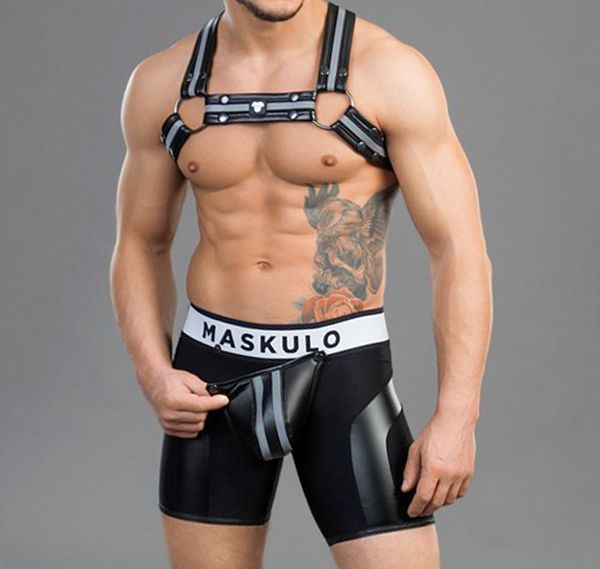 MASKULO Fetish Shorts YOUNGERO. SH31, schwarz