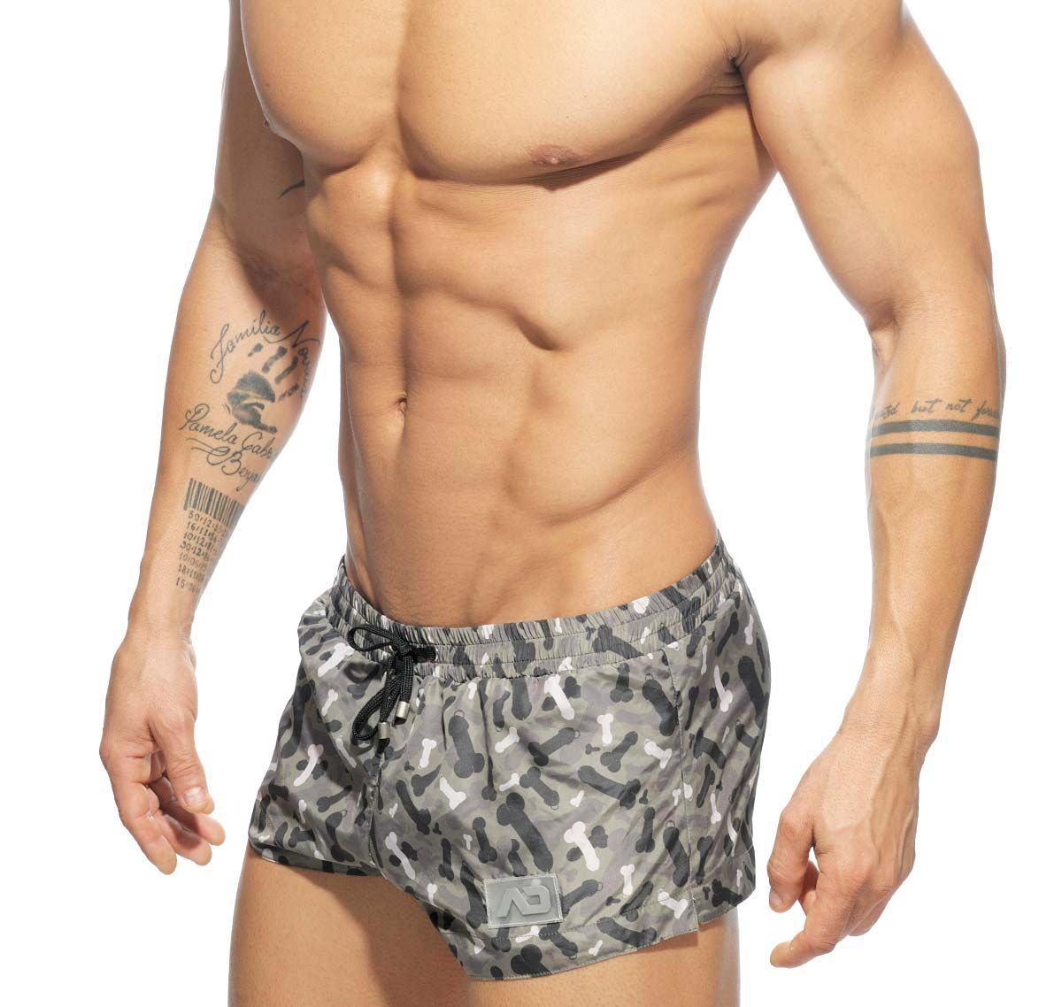 Addicted Badeshorts CAMO PENIS SUPERSHORT ADS126, camouflage