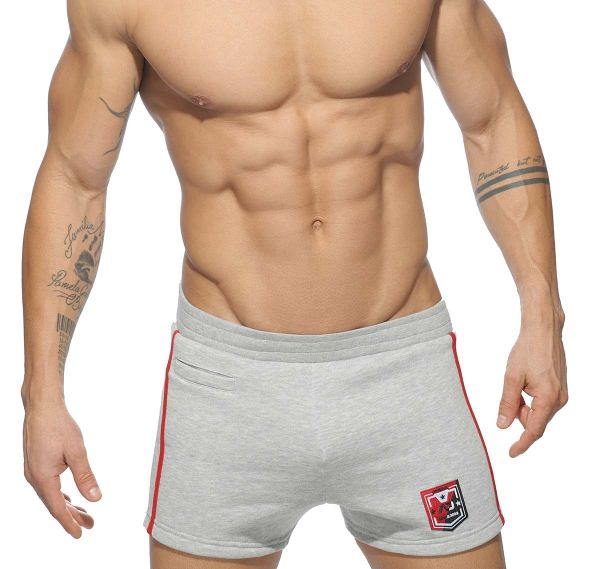 Addicted kurze Sporthose BADGE SPORT PANTS AD508, hellgrau