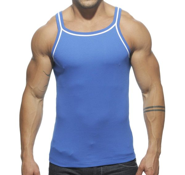ES Collection Tank Top DOUBLE PIPING TS122, blau