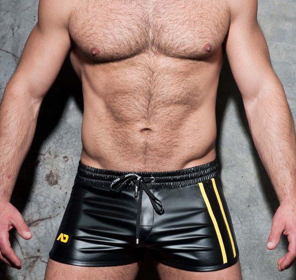 AD FETISH Shorts DOUBLE STRIPE ROCKY ADF115, gelb