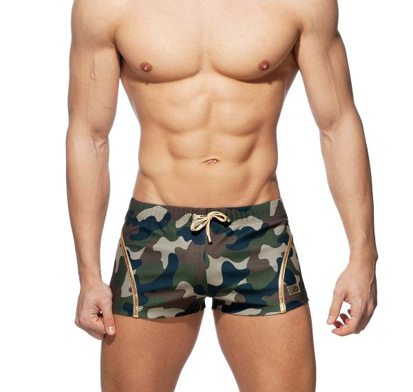 Addicted kurze Sporthose CAMO/GOLD SHORTS AD942, army