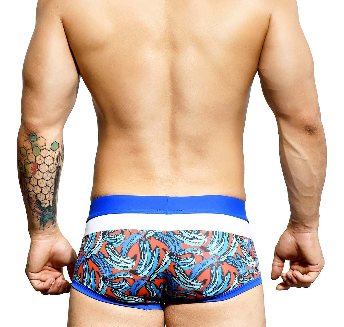 Andrew Christian Slip de baño TROPICAL BANANA TRUNK 7673, azul