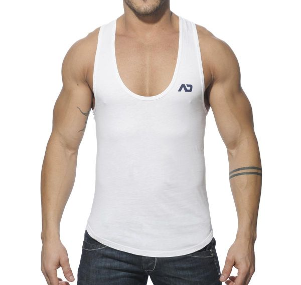 Addicted Tank Top VINTAGE LOW RIDER AD216, weiss