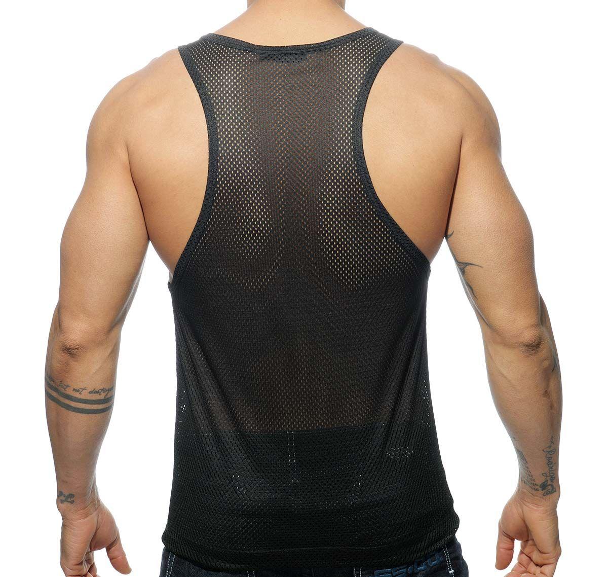 Addicted Netzshirt METAL TANK TOP AD563, schwarz silber