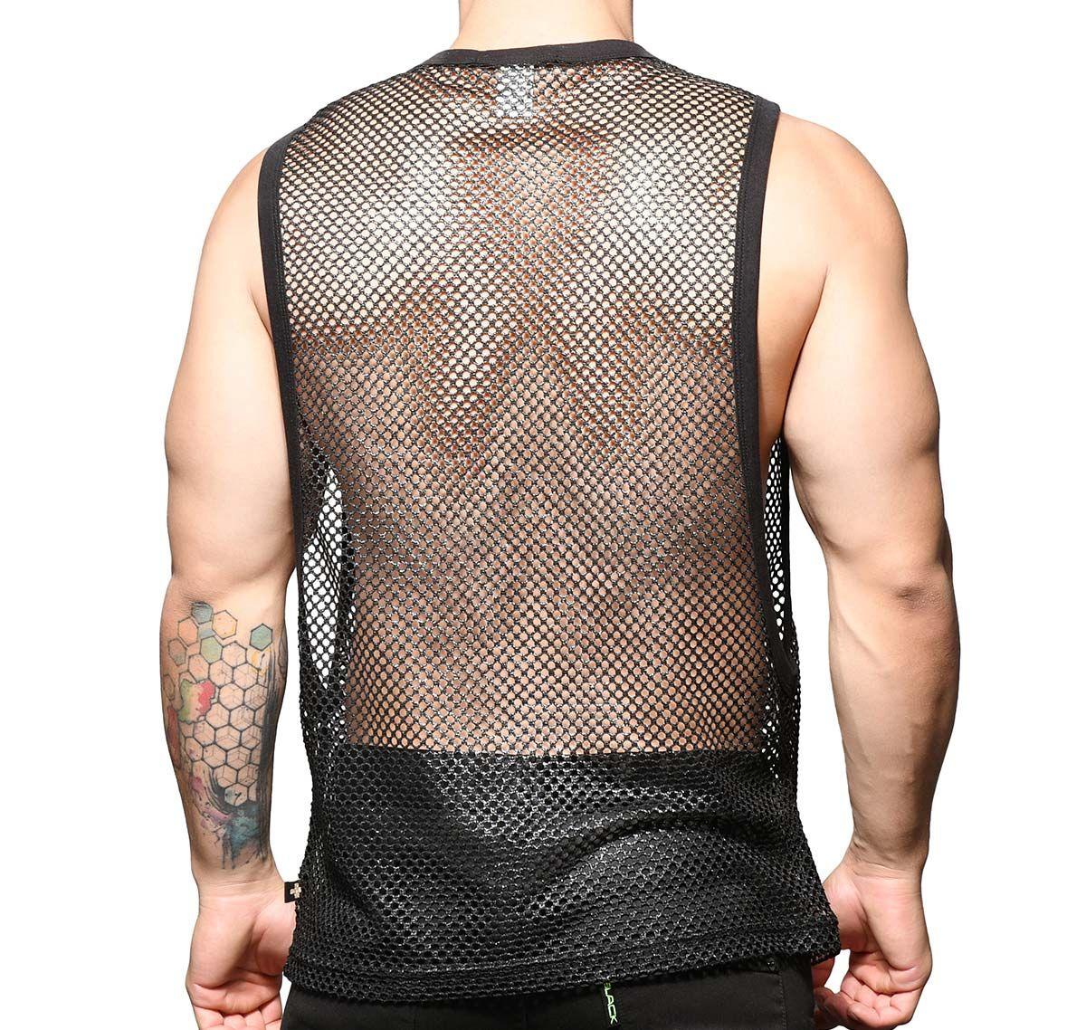 Andrew Christian Camiseta de tirantes SLICK MESH LAUREL GYM TANK 2785, negro
