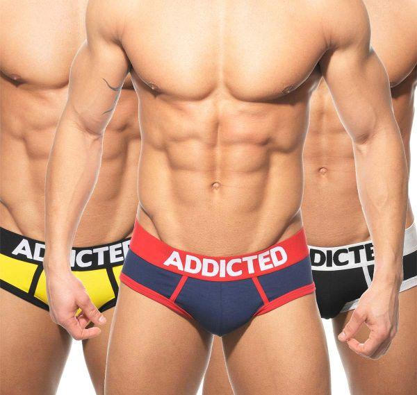 Addicted 3er Pack Herren Slips AD01P