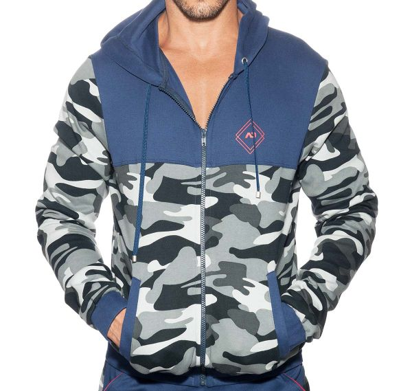 Addicted Sportjacke SPORT CAMO JACKET AD659, navy