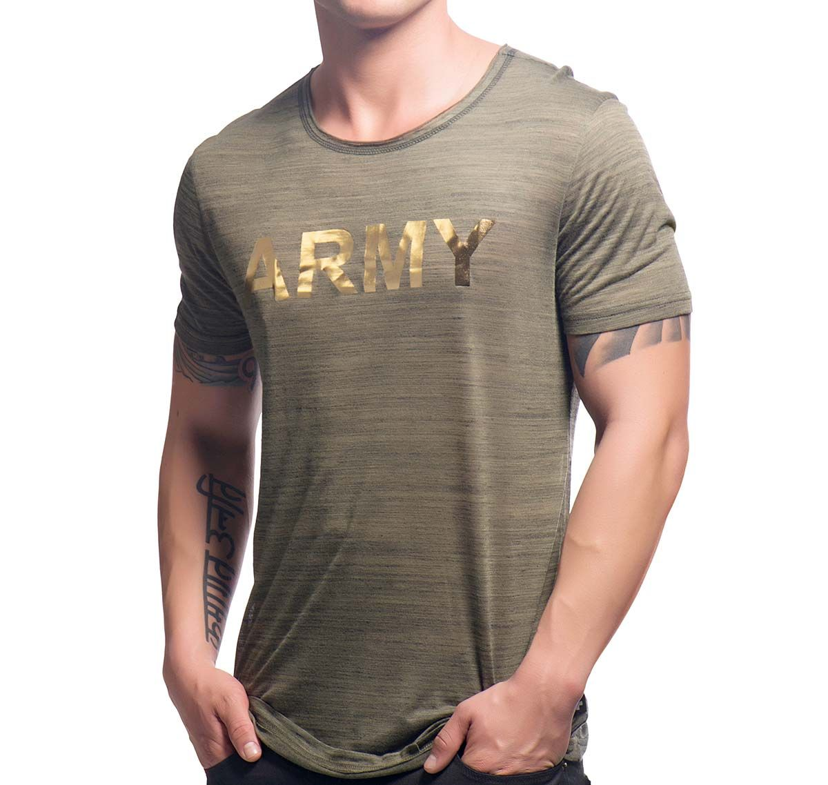 Andrew Christian Maglietta GLAM ARMY TEE 10241, army
