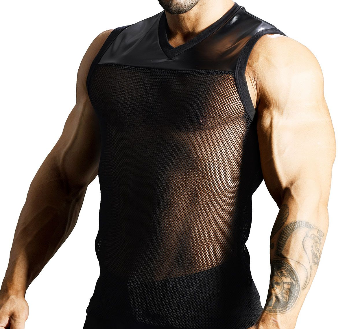 Andrew Christian ärmelloses T-Shirt FOOTBALL SLEEVELESS TEE 2735, schwarz