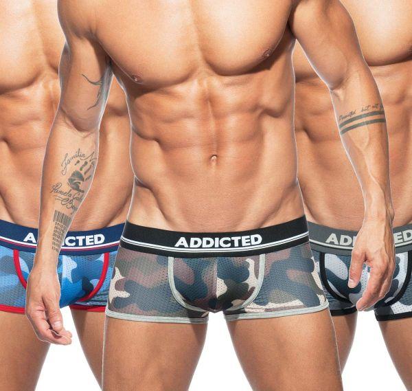 Addicted 3er Pack Boxershorts CAMO MESH BOXER PUSH UP AD698P
