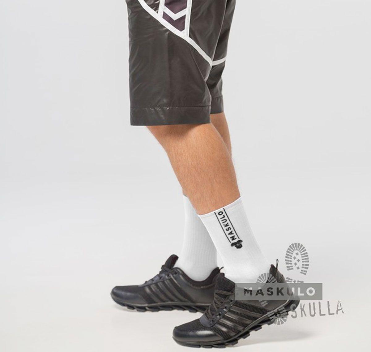 MASKULO Fetish Socks SKULLA. AC077, white