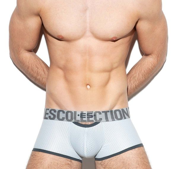 ES Collection Boxershorts DOUBLE OPENING MESH TRUNK UN322, silber