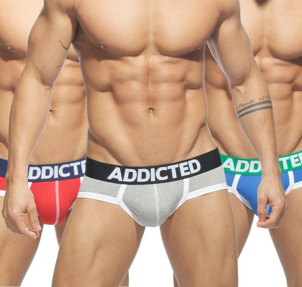Addicted 3er Pack Herren Slips BASIC AD301P