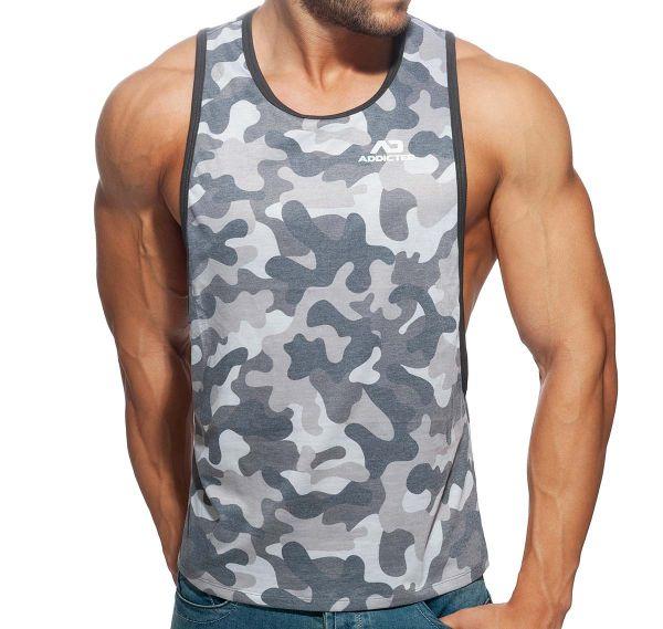 Addicted Tank Top AD FANTASY LOW RIDER AD958, camouflage-grau