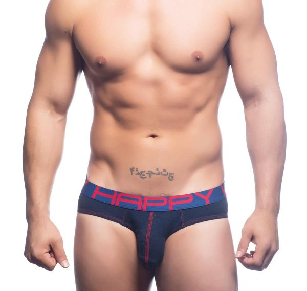 Andrew Christian Slip PROJECT HAPPY BRIEF 90501, navy