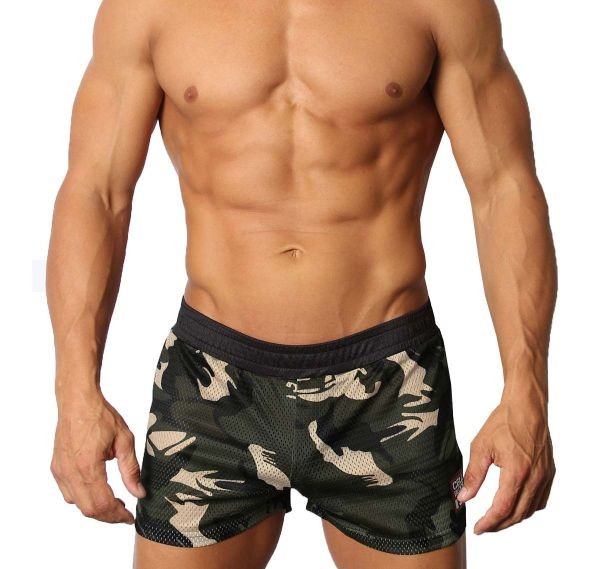 Cellblock 13 Training shorts FOXHOLE CAMO MESH SHORT, grey