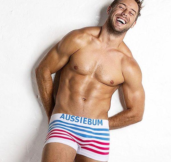 aussieBum Boxershorts BODYSTRETCH blau/pink