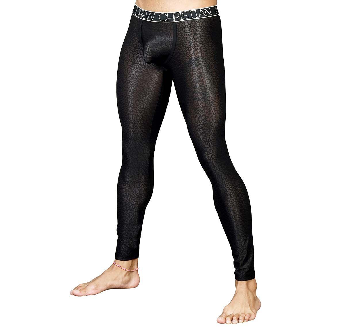 Andrew Christian Leggings SHEER LEOPARD LEGGING 91343, black