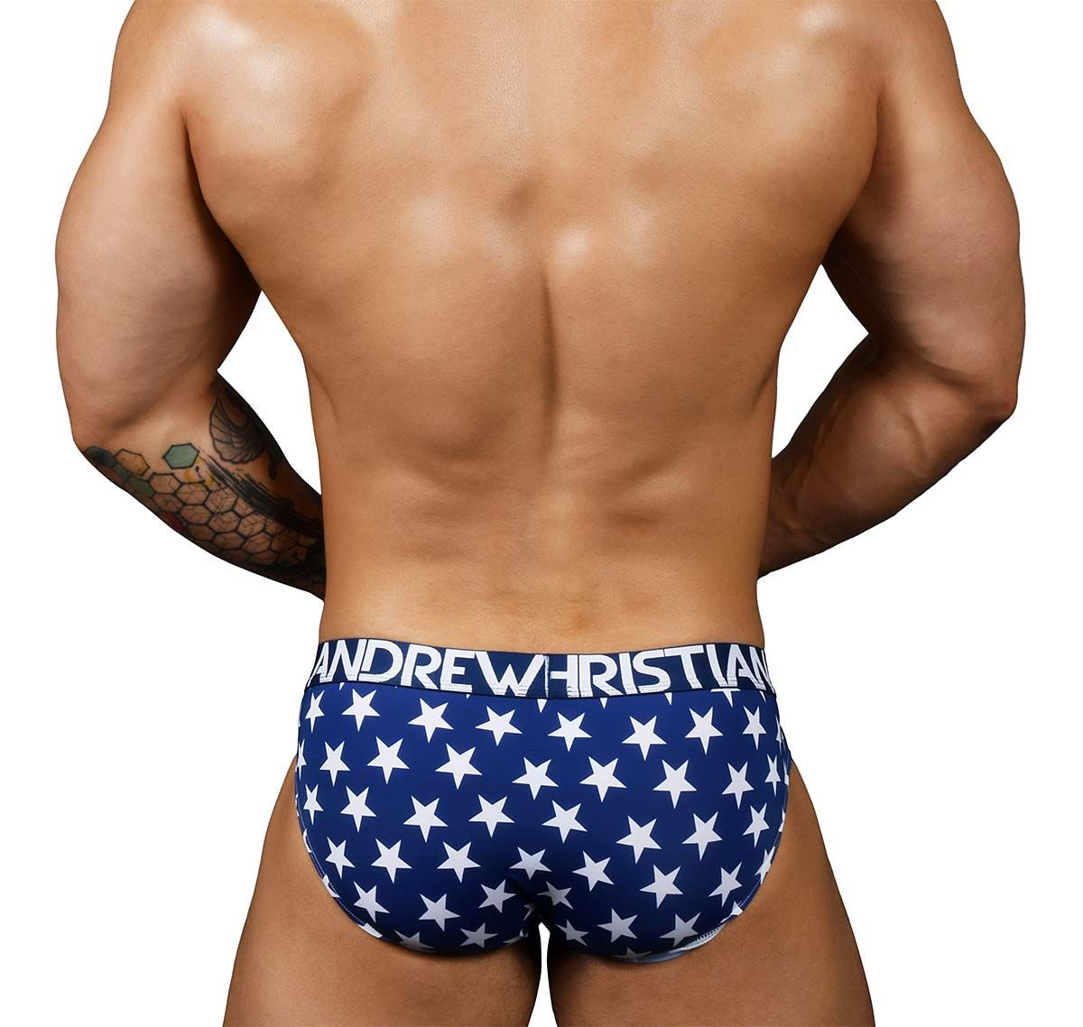 Andrew Christian Slip STAR PRIDE BRIEF with ALMOST NAKED 91111, arcoiris