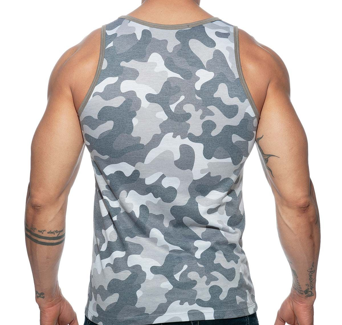 Addicted Sportshirt ADDICTED WASHED CAMO TANK TOP AD801, grau