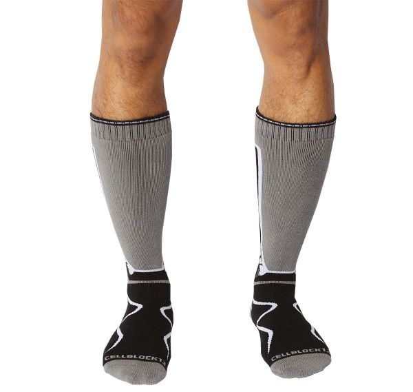 Cellblock 13 Calcetines deportivos KENNEL CLUB Mid-Calf SOCK, gris