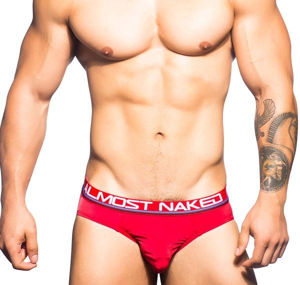 Andrew Christian Slip ALMOST NAKED SPORTS & WORKOUT BRIEF 90376, rot