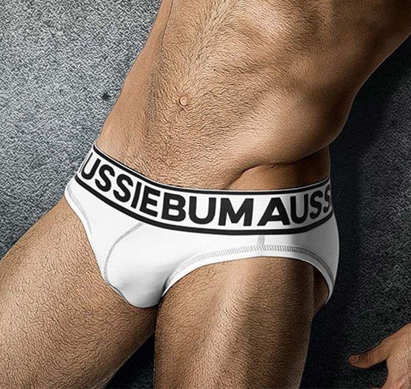 aussieBum Slip FLASHR, weiß/schwarz