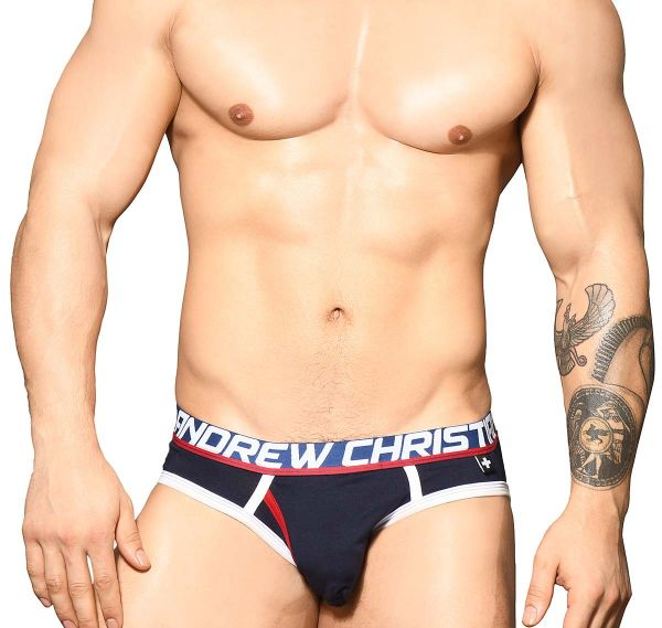 Andrew Christian Slip FLY TAGLESS BRIEF w/ Almost Naked 91740, navy