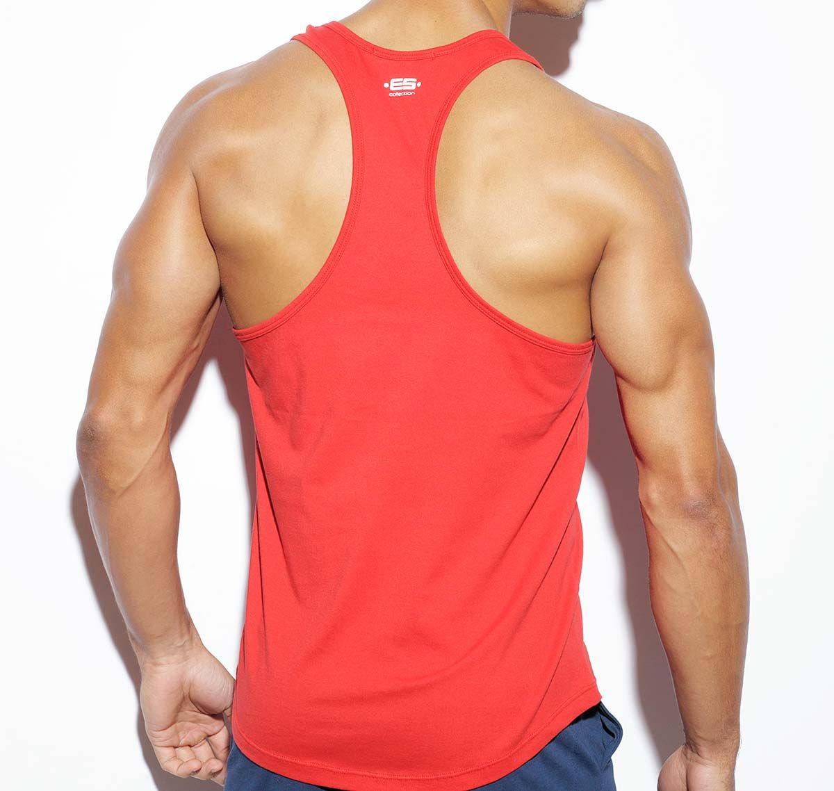 ES Collection NEVER BACK DOWN BADGE TANK TOP TS170, rot