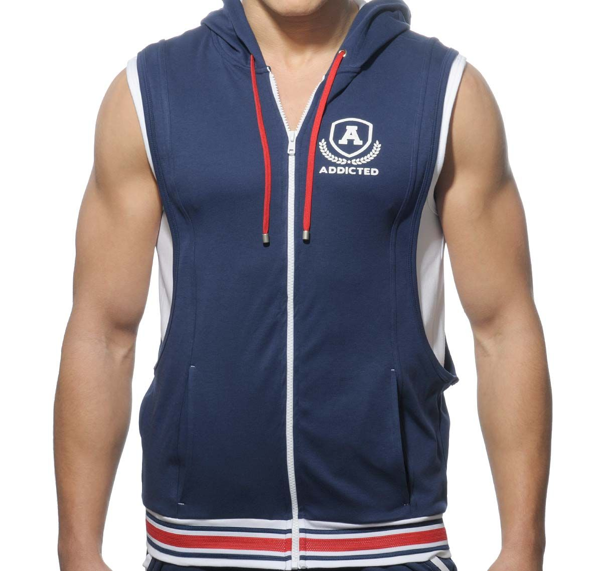 Addicted Sportjacke ZIP COTTON HOODY AD334, navyblau