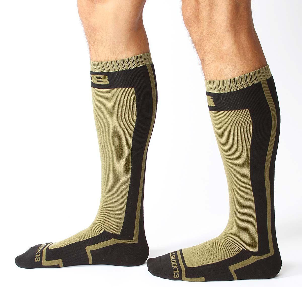 Cellblock 13 Chaussettes de sport FULL THROTTLE KNEE HIGH SOCK, vert