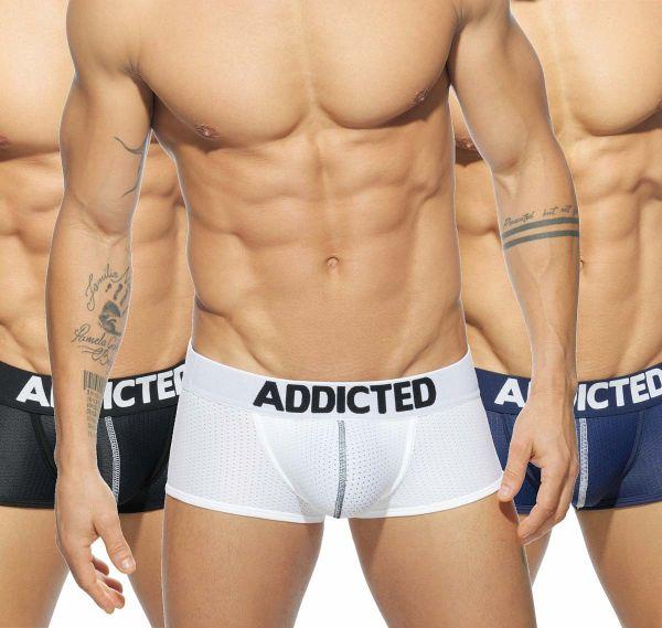 addicted 3er pack boxershorts mesh boxer push up ad477p addicted marken gentlewear. Black Bedroom Furniture Sets. Home Design Ideas
