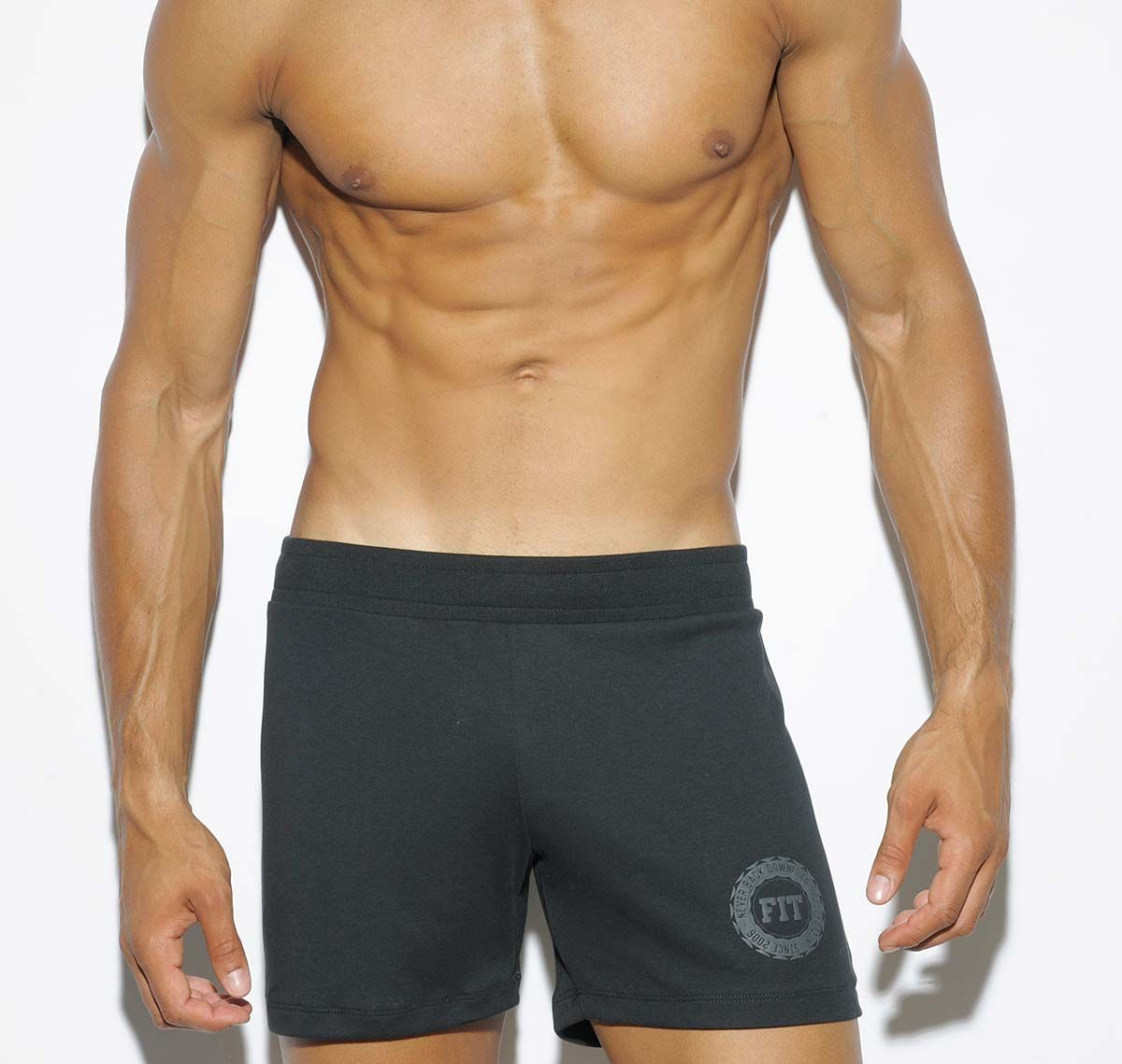 ES Collection kurze Sporthose STRIPES FIT SHORTS SP138, schwarz