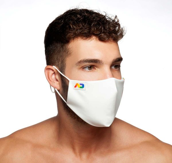 ADDICTED Face mask RAINBOW TAPE MASK AC118, white
