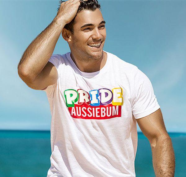 aussieBum T-Shirt DESIGNER TEE CELEBRATION, weiß