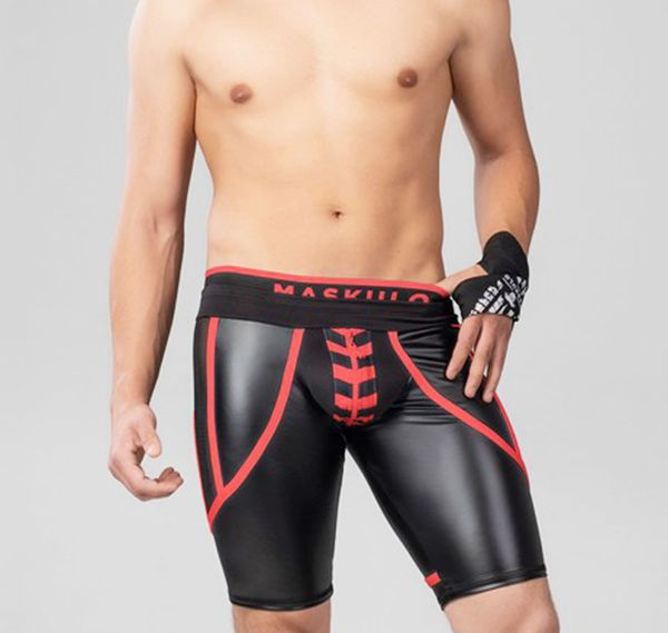 MASKULO Fetish Cycling Shorts SKULLA. SH076-10, rot
