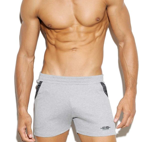 ES Collection kurze Sporthose ELECTRIC SHORT SP151, hellgrau