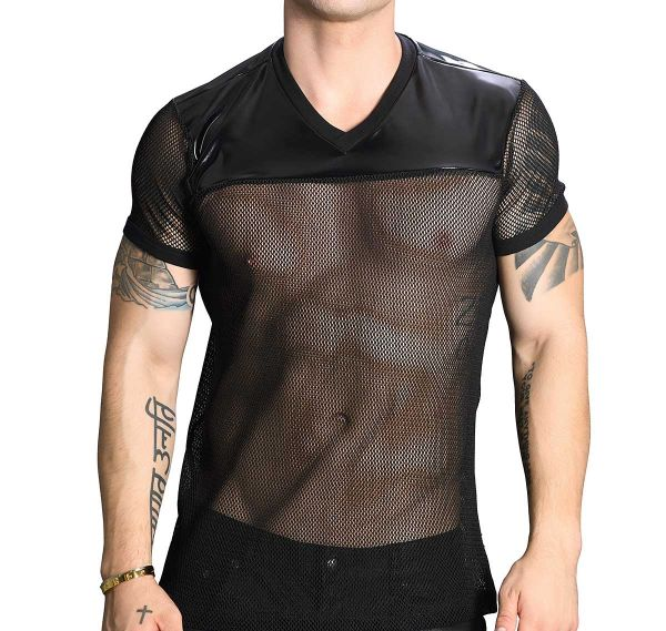 Andrew Christian T-Shirt FOOTBALL TEE 10268, schwarz