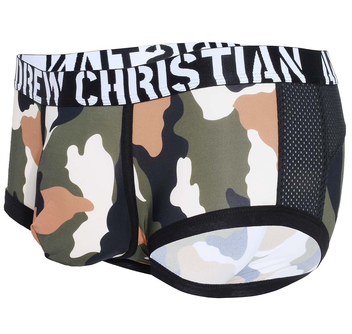 Andrew Christian Boxer CAMOUFLAGE MESH BOXER w/ Almost Naked 91853, army