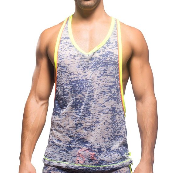 Andrew Christian HEAT SEXY RACER BACK TANK 2456, blau