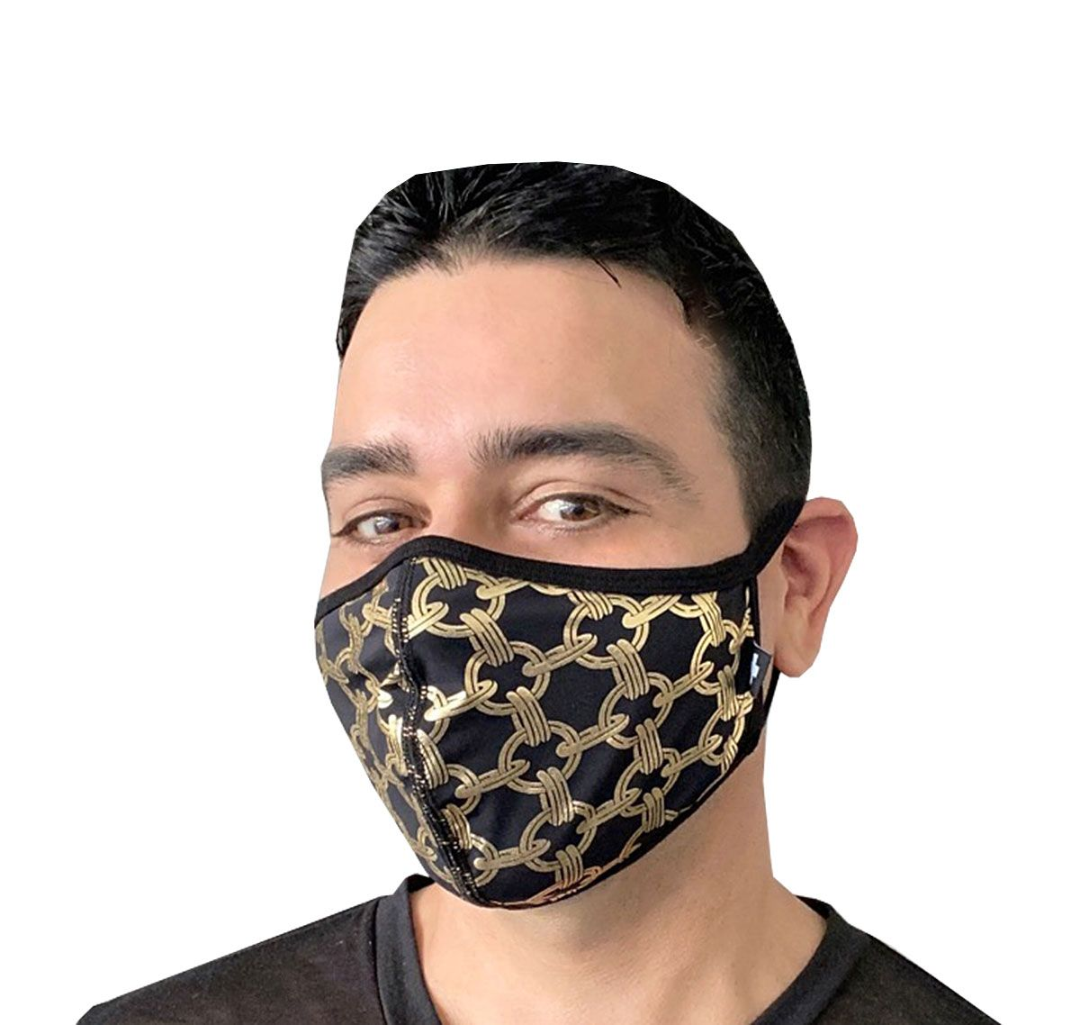 Andrew Christian Masque facial CHAIN GLAM MASK 8560, noir/or